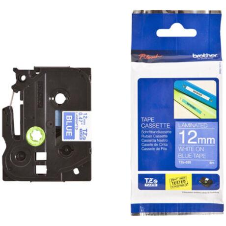 Brother TZE-535 kék alapon fehér eredeti feliratozó szalag