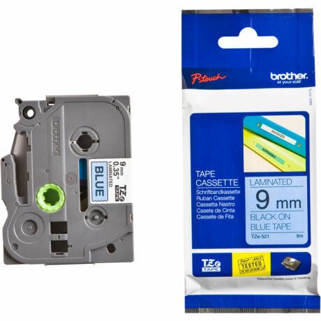 Brother TZE-521 kék alapon fehér eredeti feliratozó szalag