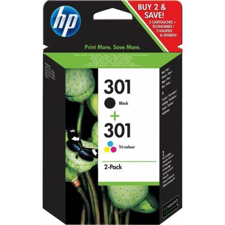 HP N9J72AE No.301 fekete+színes eredeti tintapatron multipack