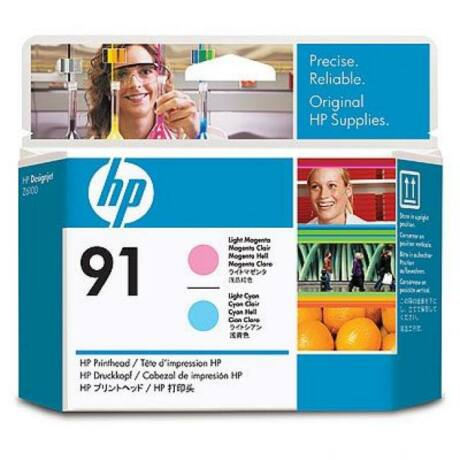 HP C9462A No.91 világoskék és világos magenta eredeti nyomtatófej