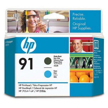 HP C9460A No.91 matt fekete és kék eredeti nyomtatófej
