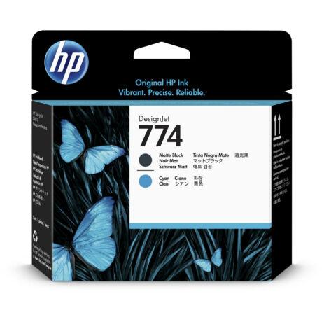 HP P2W01A No.774 mattfekete / kék eredeti nyomtatófej