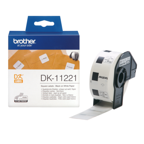 Brother DK-11221 fehér eredeti öntapadós címke 23mm