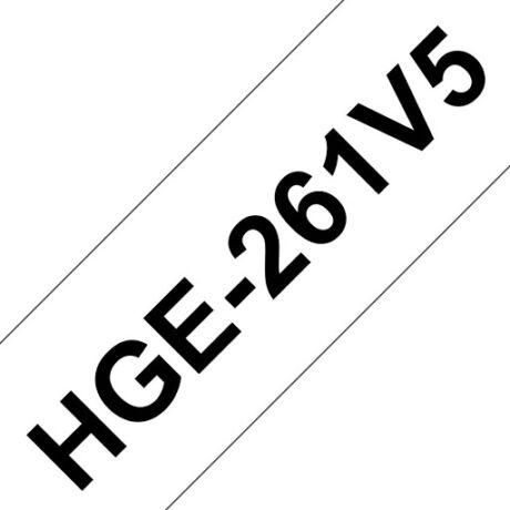 Brother HGE-261 fehér alapon fekete eredeti feliratozó szalag