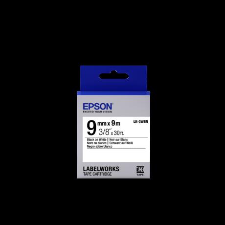 Epson LK-3WBN fehér alapon fekete eredeti címkeszalag