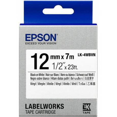 Epson LK-4WBVN fehér alapon fekete eredeti vinyl címkeszalag