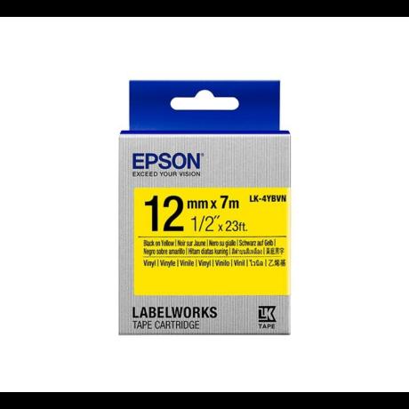 Epson LK-4YBVN sárga alapon fekete eredeti vinyl címkeszalag