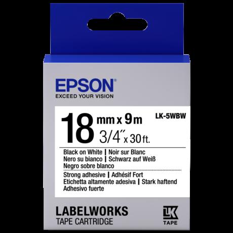 Epson LK-5WBW fehér alapon fekete eredeti címkeszalag