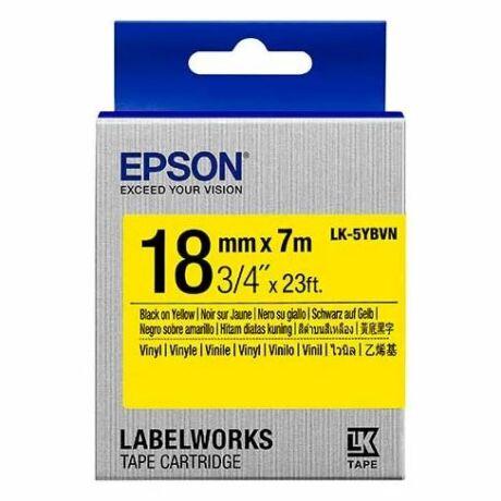 Epson LK-5YBVN sárga alapon fekete eredeti vinyl címkeszalag