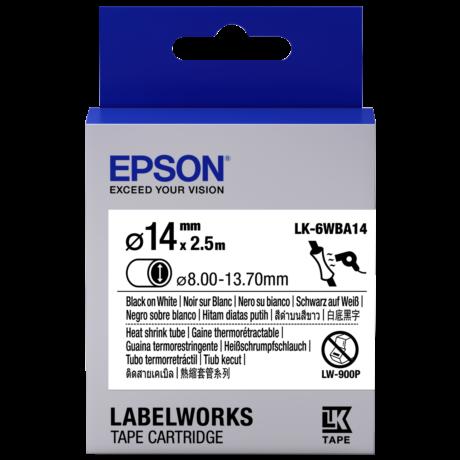 Epson LK-6WBA14 fehér alapon fekete eredeti hőálló címkeszalag