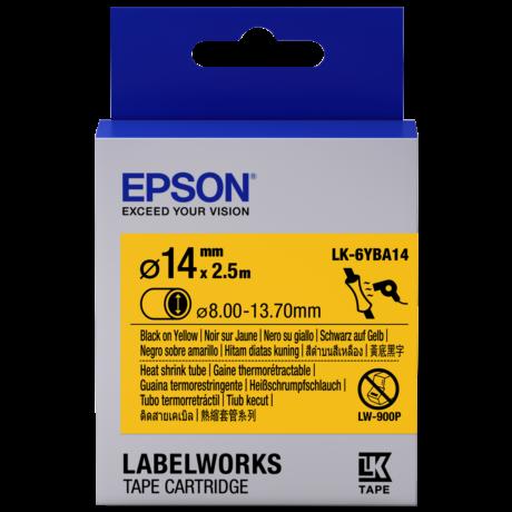 Epson LK-6YBA14 sárga alapon fekete eredeti címkeszalag