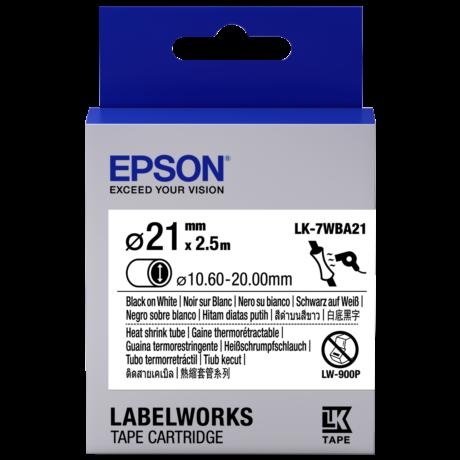 Epson LK-7WBA21 fehér alapon fekete eredeti címkeszalag