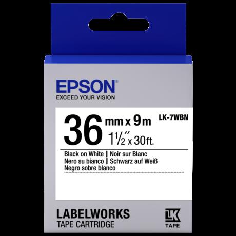 Epson LK-7WBN fehér alapon fekete eredeti címkeszalag