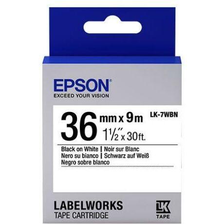 Epson LK-7WBVN fehér alapon fekete eredeti vinyl címkeszalag