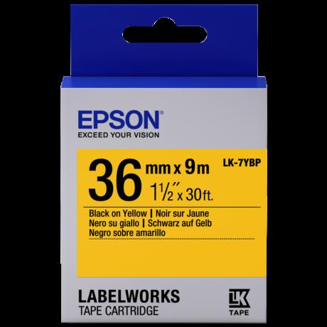 Epson LK-7YBP pasztel sárga alapon fekete eredeti címkeszalag