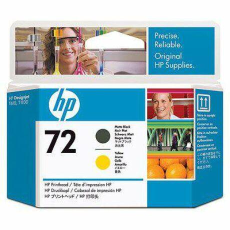 HP C9384A No.72 matt fekete / sárga eredeti nyomtatófej