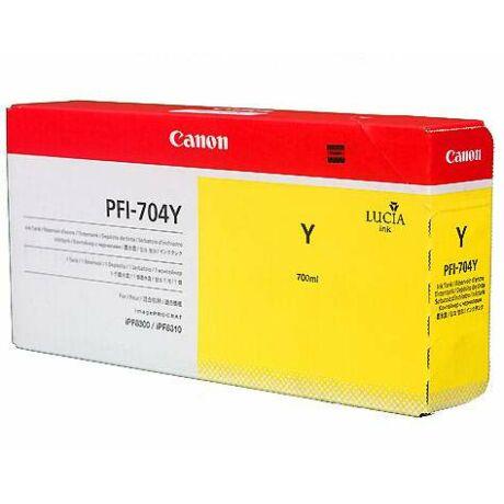 Canon PFI-704Y sárga eredeti tintapatron