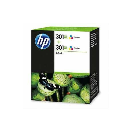HP D8J46AE No.301XL színes eredeti tintapatron duplacsomag